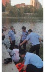 14岁少女跳河  汝南警方及时救助