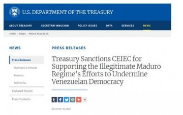 又借委内瑞拉打压中企!美财政部宣布制裁中国电子进出口有限公司