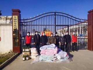 汝南县残联慰问金铺镇重残托养中心残疾困难群众