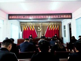 汝南县金铺镇开展农村乱占耕地建房整治工作
